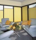 Fensterplissees als Sonnenschutz in Gelb