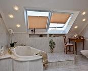 Plissees sind auch fürs Bad geeignet