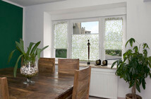 Plissees für Fenster mit Design