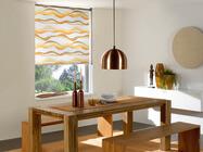 Fenster Rollo mit Muster
