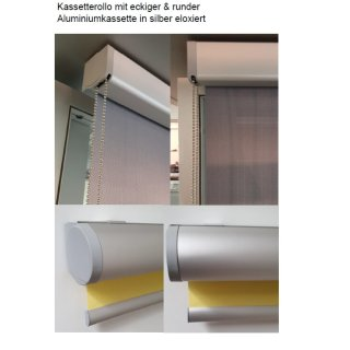 Kassettenrollos 42.012. transparent in 4 Farben