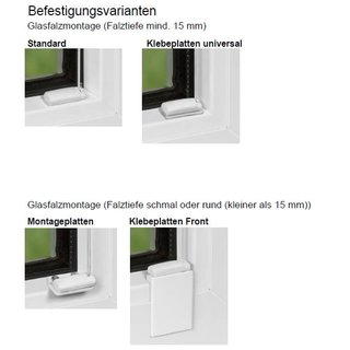 Fensterplissees 30.044. - VS2 transparent in 7 Farben~10