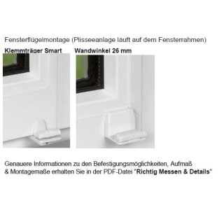 Fensterplissees 30.044. - VS2 transparent in 7 Farben~11